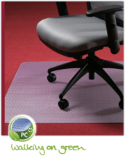 Коврик защитный для пола под офисный стул