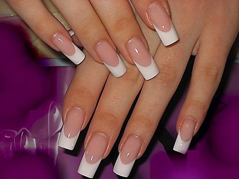 Французский маникюр на длинные ногти