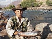 Рыбалка в горных реках Киргизии.