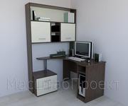 Компьютерный стол + тумба,  полки РМ-03.1 (1200х1300х1954)
