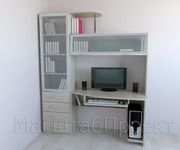 Компьютерный стол + шкаф-стеллаж книжный РМ-03.5