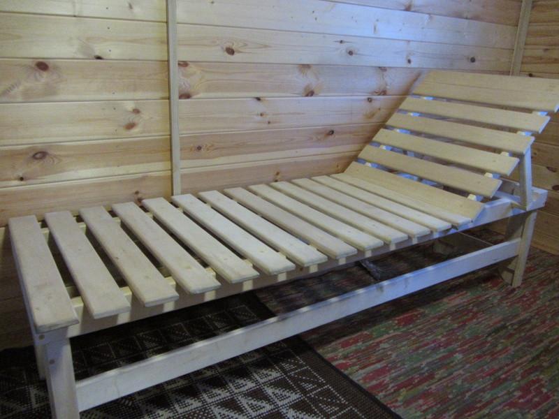 Лежак в баню своими руками фото 45