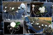 свадебные украшения авто,  свадебный кортеж  машин