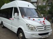Микроавтобус на свадьбу, белый мерседес, заказать недорого