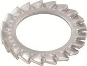 Шайба стопорная упругая с внутренними или внешними зубцами,  DIN 6798