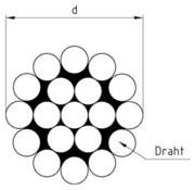 Трос нержавеющий жесткий DIN 8378,  1х19,  А2