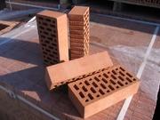 Кирпич керамический пустотелый (эффективный) рядовой и лицевой М,  цен