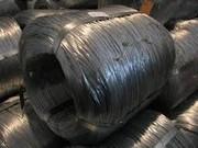 Оцинкованная проволока термически обработанная диаметр 0, 6 - 6, 0 мм стальная низкоуглеродистая. В мотках цилиндрической формы,  бухта стянута шинками.