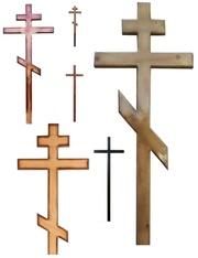 Кресты деревянные,  металлические (православные,  католические)