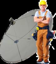 Монтаж,  ремонт и настройка спутникового и эфирного тв