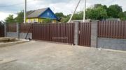 Ворота откатные,  распашные,  калитки,  навесы,  вольеры,  заборы.