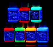 Краска флуоресцентная. Набор 7 цветов по 100 мл.