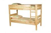 Кровать двухъярусная Уве,  массив сосны.