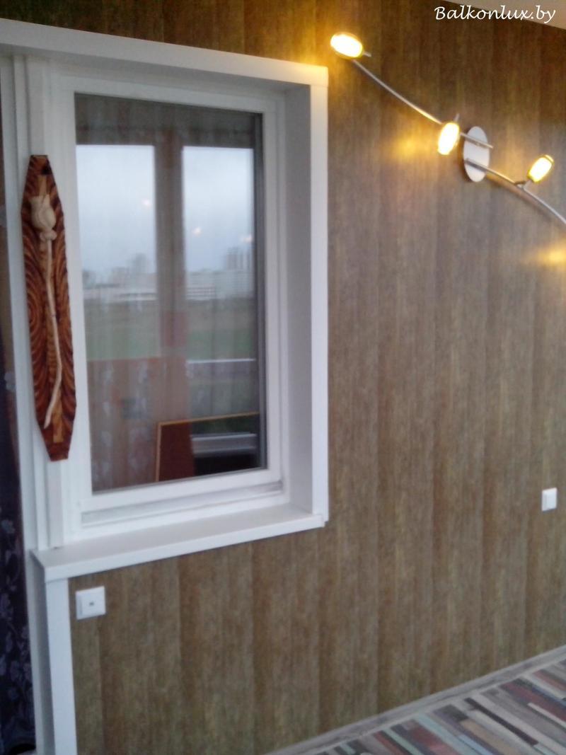 Отделка балкона панелями пвх, минск.