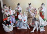 Фарфоровые статуэтки и посуда СССР и др