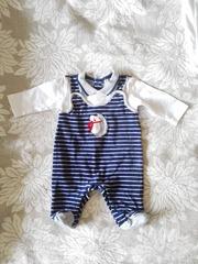 Итальянские костюмчики-слипы для новорожденных,  на мальчика,  размер 50-56