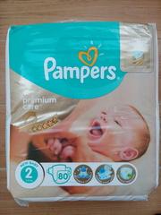 Подгузники Pampers Premium Care 2 (3-6 кг). 80 шт. Польша
