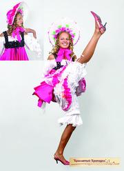 платья для танца кан-кан, цыганские наряды