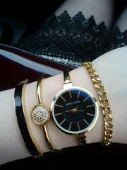Подарочный набор шикарных часов Anna Klein