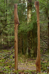 Большое напольное зеркало.
