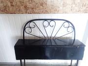 Скамейка с ящиком для кладбища. Из металла
