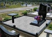 Благоустройство мест захоронения.Установка памятников