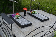 Благоустройство могил, мест захоронения.Установка памятника