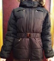 Куртка женская зимняя. Удлиненная. 46-48 размер. На  синтепоне + байка