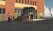 эскиз или визуализация КРЫЛЬЦА,  пандуса,  модернизация фасадов