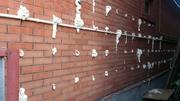 Утепление пеной стеновых пустот дома. Бипор,  пеноизол.